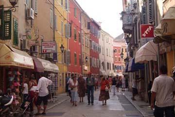 Altstadtgasse in Rovinj, Istrien/Kroatien