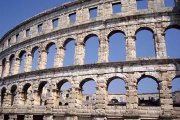 Römische Arena, Amphitheater in Pula, Istrien/Kroatien