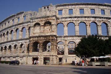 Römische Arena, Amphitheater in Pula, Istrien, Kroatien