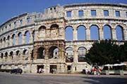 Römische Arena und Amphitheater in Pula in Istrien