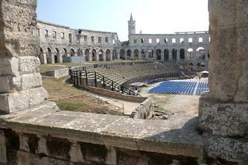 Römische Arena, Ampfietheater in Pula, Istrien, Kroatien