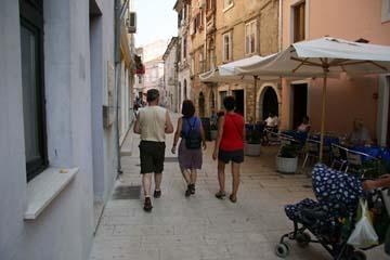 Gasse in Pula, Istrien, Kroatien