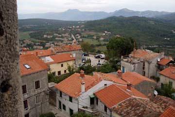 Aussicht vom Glockenturm in Labin, Istrien/Kroatien