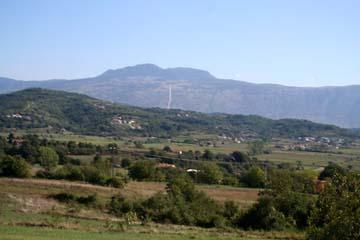 Fahrt von Labin ins Landesinnere, (Uckagebirge), Istrien, Kroatien