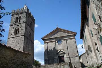Kirche in Hum, Istrien, Kroatien
