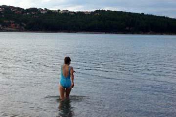 Badebucht von Soline, Insel Krk, Kroatien