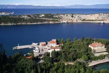 Ausblick von Omisalj, Insel Krk, Kroatien