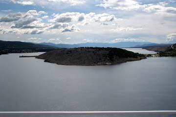 Ausblick von der Krker Brücke, Kroatien