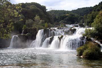 Skradin Wasserfall, Krka-Nationalpark, Kroatien