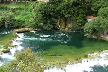 Krker Wasserfälle, Kroatien