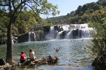 Skradin Wasserfall, Krker Wasserfälle, Kroatien
