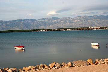 Nin, Strand mit schöner Aussicht, Kroatien
