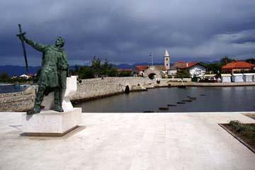Blick auf Nin, Kroatien