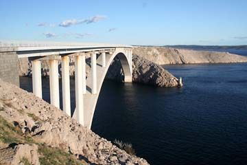 Brücke zur Insel Pag, Kroatien