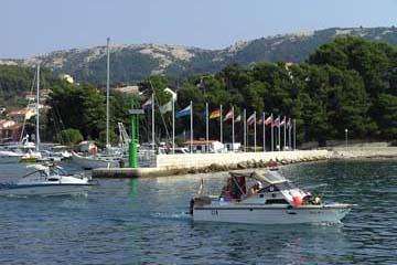 Hafen von der Stadt Rab, Insel Rab, Kroatien