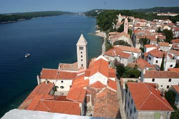 Stadt Rab vom Turm aus, Insel Rab, Kroatien