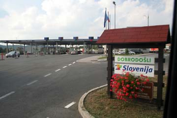 in Slowenien angekommen