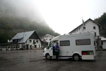 Übernachtung am Plöckenpaß, Grenze Italien - Österreich