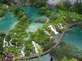 Wasser Kaskaden in den Plitwitzer Seen in Kvarner, Kroatien