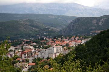 Blick auf Knin, Kroatien