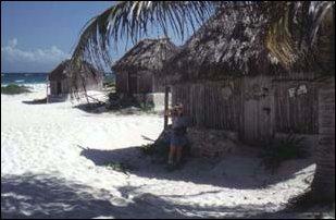 der Strand von Tulum, Mexiko