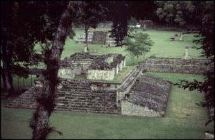 der Ballspielplatz von Copan, Honduras