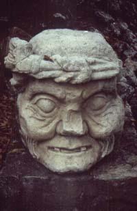 Statue in Copan, Honduras