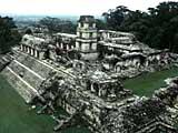 die Maya Anlage von Palenque in Chiapas, Mexiko