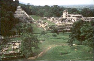 die Ruinenanlage der Maya von Palenque, Yucatan, Mexiko