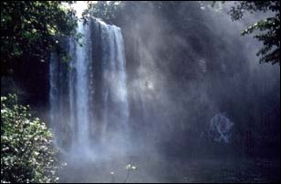 der Wasserfall Misol Ha bei Palenque, Mexiko