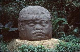 die Olmekenköpfe im Parque-Museo La Venta, Villahermosa, Mexiko
