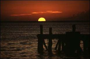 Sonnenuntergang auf der Isla Mujeres, Mexiko