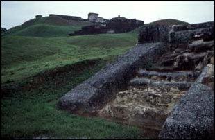 die Maya Ruinen von Comalcalco, Mexiko