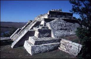 die Ruinen von Chincultic an den Lagos de Montebello, Mexiko