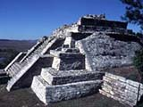 Eine Maya-Ruine in Mexiko
