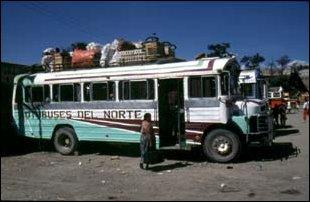 am Busbahnhof von Huehuetenango, Guatemala