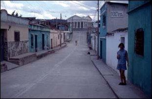 eine untouristische Straße in Huehuetenango, Guatemala
