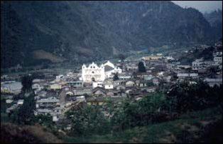 das Dorf Zunil bei Quetzaltenangom Guatemala