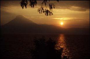 Sonnenuntergang am Strand von Pana, Guatemala