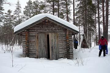 Eine Klohütte in Lappland...