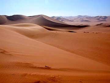 die Sanddünen in Libyen