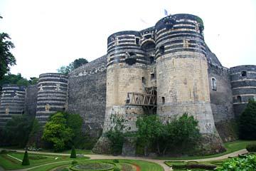 Angers, das mächtige Schloß von Angers, Loiretal