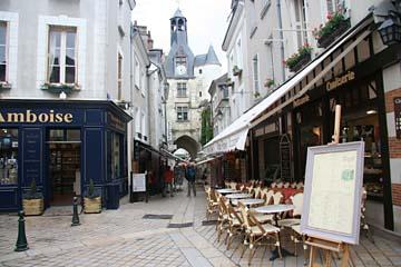 Fußgängerzone in Amboise an der Loire