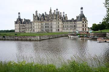 Blick zum Schloß Chambord, Chambord