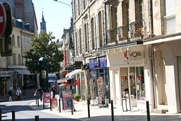 Einkaufsstraße in Nevers