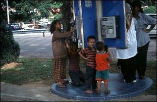 ein Telefon in Malaysia