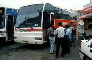 ein luxoriöser Bus, Malaysia
