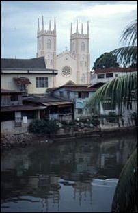 am Melaka-Fluß, Malaysia