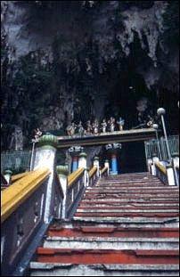 die Treppe der Batu Cave, Kuala Lumpur, Malaysia