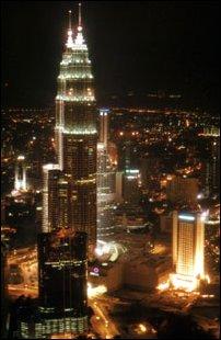 Blick vom KL Tower, Kuala Lumpur, Malaysia
